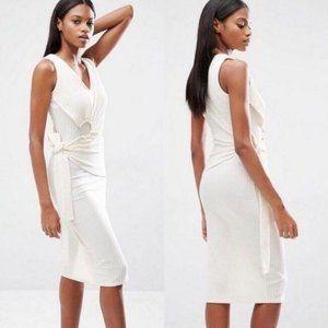 ASOS Lavish Alice Ribbed Dress W Belt Hardware